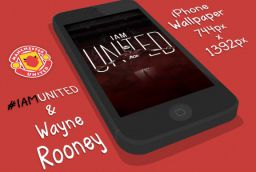 #ManchesterUnited iPhone's Wallpaper #IAMUNITED Rooney Ver.