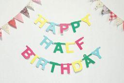 HAPPY HALF BIRTHDAY! 手作りケーキでお祝いしました